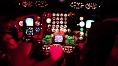 Night vision camera - pilot flies the KC-13 - stock footage
