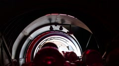 People in attraction Space Mountain in Disneyland in Paris, France. Stock Footage