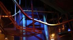 Conveyor in factory of Disneyland in Paris, France. Stock Footage