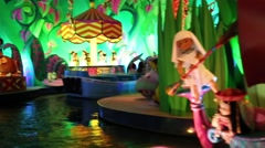 Singing dolls in attraction This small world in Disneyland Stock Footage