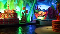 Dancing dolls in attraction This small world in Disneyland Stock Footage