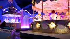 Dolls dance in attraction This small world in Disneyland Stock Footage