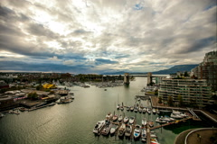 Granville island false creek vancouver bc timelapse 4K Stock Footage
