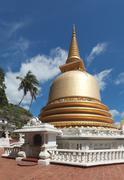 Buddhist dagoba (stupa) close up in Golden Temple, Dambulla, Sri Lanka - stock photo