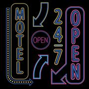 Neon Open Sign Stock Illustration