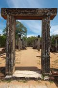 Stock Photo of Passage in ancient ruins. Pollonaruwa, Sri Lanka