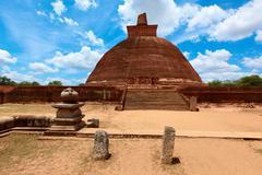 Jetavaranama dagoba  (stupa). Anuradhapura, Sri Lanka - stock photo