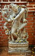 Dancing Shiva statue made of stone. India Stock Photos