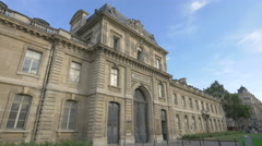 View of the Military School in Paris Stock Footage