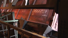 Working wagon-tipper side view Stock Footage