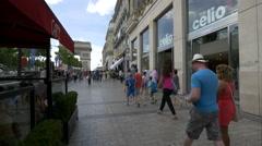 Celio store on Avenue des Champs-Elysees, Paris Stock Footage