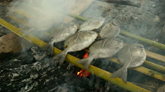Fish barbecue Stock Footage