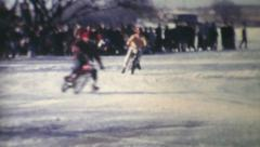 Ice Racing On Motorcycles-1970 Vintage 8mm film Stock Footage