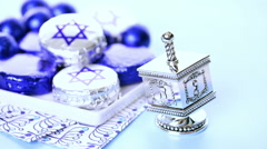 Stock Video Footage of Chocolates with Star of David for Hanukkah.