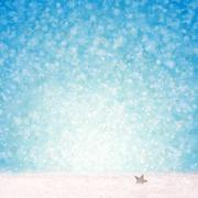 Blue Christmas Background and white snow. - stock illustration