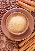 coffee and sugar - stock photo