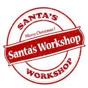 Santa workshop Stock Illustration