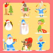 Christmas Icon Set. Vector Illustration Collection Stock Illustration