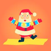 Vector Illustration of Santa Claus - stock illustration