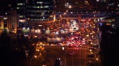 4K Time Lapse of Road Traffic at Night - stock footage