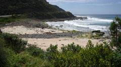 Australia Great Ocean Road Skeres Creek view Stock Footage