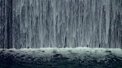 Indoor Waterfall in Slow Motion Stock Footage