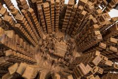 Cathedral center of Sao Paulo city Stock Photos