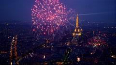 Fireworks Eiffel P1170069 Stock Footage