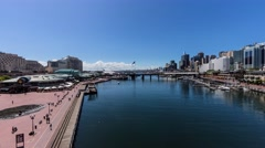 Darling Harbour Hyperlapse, Sydney, 4k - stock footage