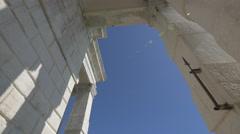 The massive columns of Punta della Dogana di Mare in Venice Stock Footage