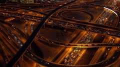 4K Time Lapse of Road Traffic Highway at Night Stock Footage