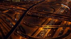 4K Road Traffic Highway at Night - stock footage