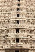 Tower (gopura) of Arunachaleswar Temple. Tiruvannamalai, Tamil Nadu, India Stock Photos