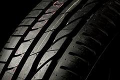 New car tire close up - stock photo