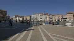 Fondamenta Salute seen on a sunny day, Venice Stock Footage