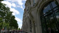 HSBC Bank on Avenue des Champs-Elysees, Paris Stock Footage