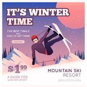 Stock Illustration of Winter Sport Poster