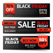 Black Friday Banner Set - stock illustration