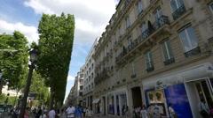 Lacoste store on Avenue des Champs-Elysees, Paris Stock Footage