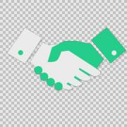 I Handshake cartoon illustration hand drawn animation alpha Stock Footage