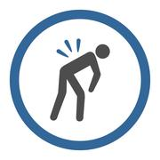 Stock Illustration of Back Ache Circled Vector Icon
