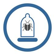 Insect Protection Rounded Vector Icon - stock illustration