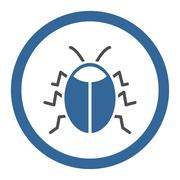 Insect Rounded Vector Icon Stock Illustration