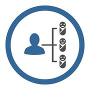 Children Links Rounded Vector Icon Stock Illustration