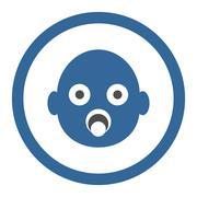 Infant Head Circled Vector Icon Stock Illustration