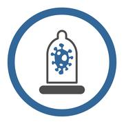 Infection Protection Circled Vector Icon Stock Illustration
