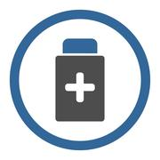 Stock Illustration of Medication Container Circled Vector Icon