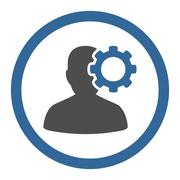 Migraine Circled Vector Icon Stock Illustration