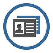 Stock Illustration of Client Accounts Circled Vector Icon