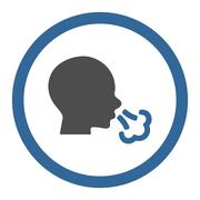 Sneezing Rounded Vector Icon - stock illustration